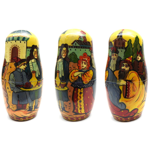 7th Doll all sides - Konyok Gorbunok (Конёк Горбунок) Art Matryoshka