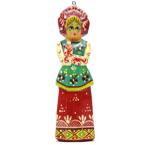 Maiden (Arms Folded) Carved Ornament