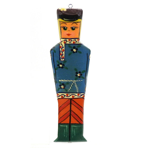 Boy in Blue Traditional Shirt Ornament