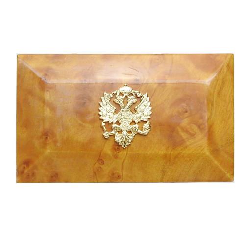 Golden Karelian Birch Wood with Royal Crest