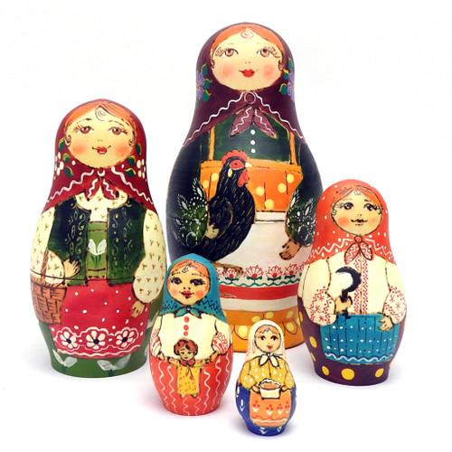 Rooster Girl Matryoshka