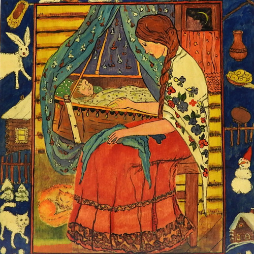 Russian Lullaby Decorative Painted Cutting Board