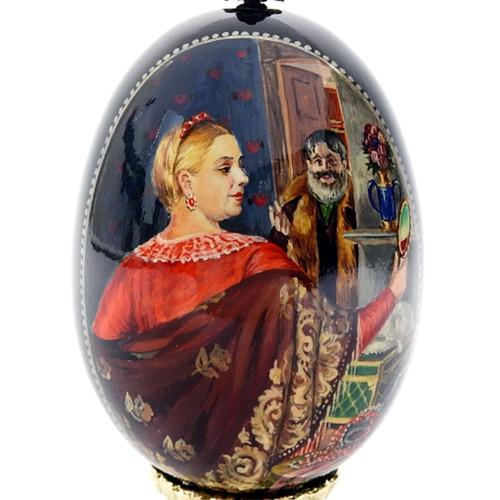 """Merchant's Wife with Mirror"" Ovo Art [Kustodiev]"