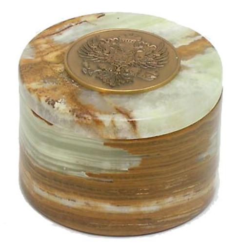 Round Onyx Jewelry Box