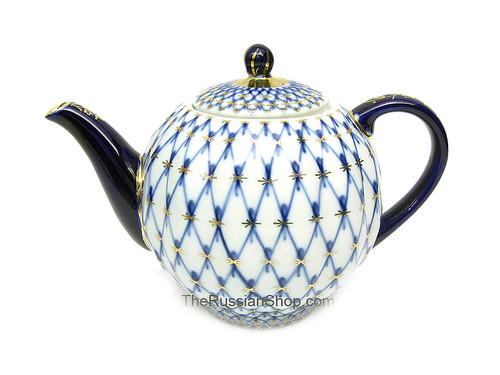 Cobalt Net Small Teapot