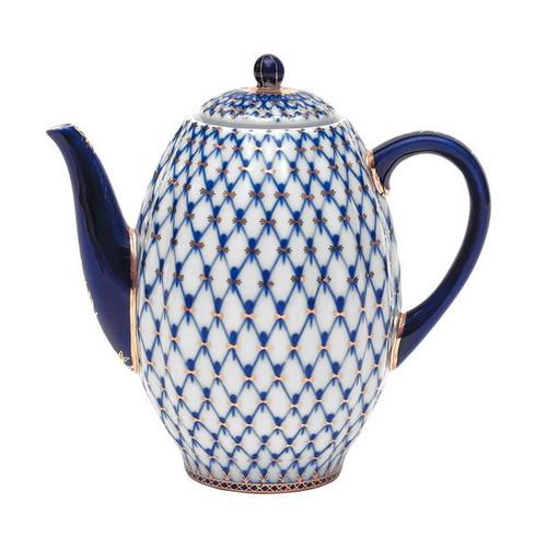 Cobalt Net Coffee Pot