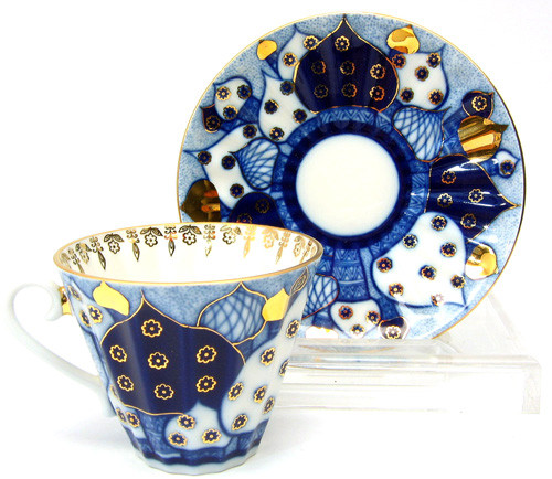 Russian (Golden) Domes Teacup and Saucer