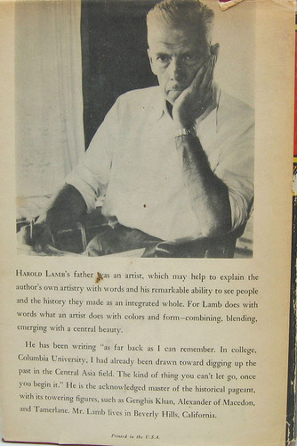 Back cover with photo of author
