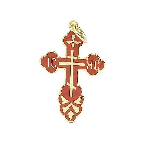 Small Red Enamel Cross