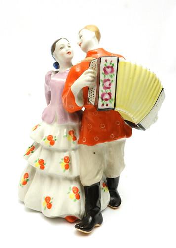 Garmonist with dancing girl-quadrille