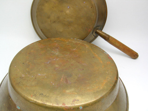 Vintage brass Russian jam and sauce making pans
