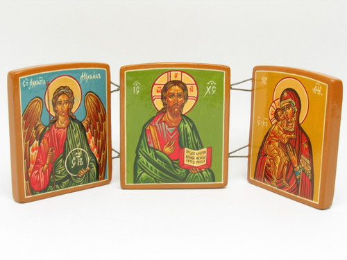 Christ with Saints Triptych Icon