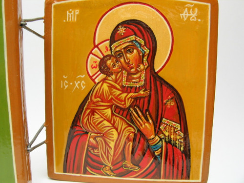 Mother of God icon within the Christ with Saints Triptych