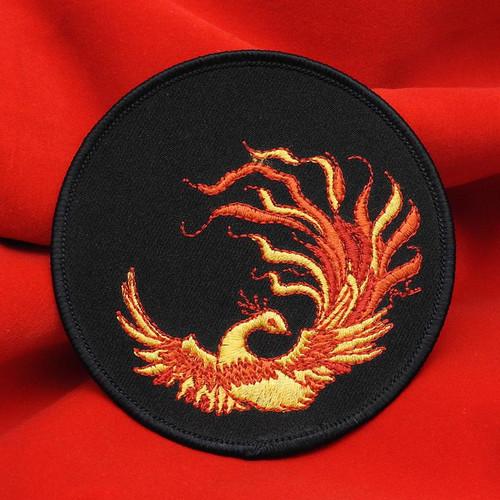 Russian Firebird жар-птица Embroidered Emblem on a black background