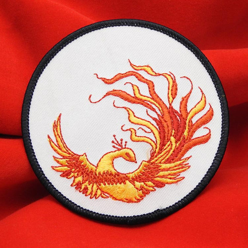 Russian Firebird жар-птица Embroidered Emblem on a white background