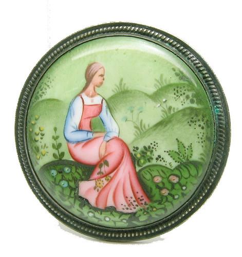 Maiden in a Glade (Дева на поляне) Rostov finift enamel