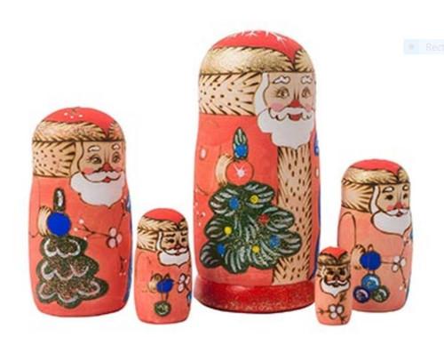 Santa Matryoshka Doll from Russia side view