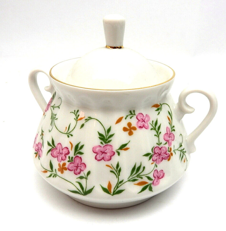 Flowering Sprigs Sugar Bowl with Lid