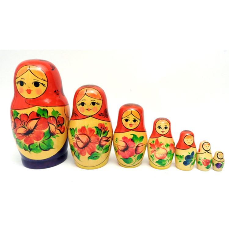 """Viatka""""Uzor"""" 7-nest Matryoshka Doll"""