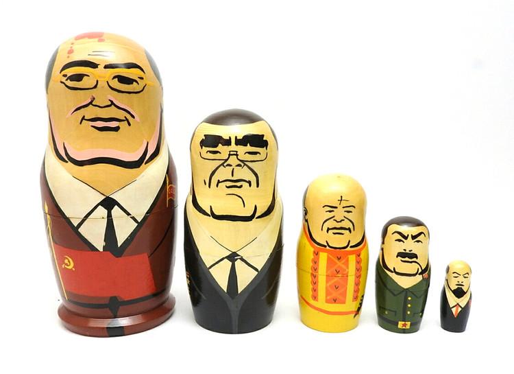 Gorbachev and Comrades Matryoshka Doll