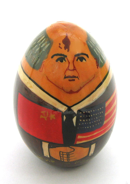 """Gorbachev """"Friendship and Peace"""" Easter Egg front view"""
