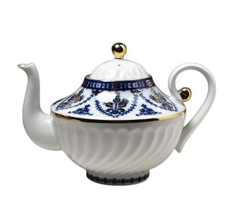 Large Cobalt Frieze Teapot