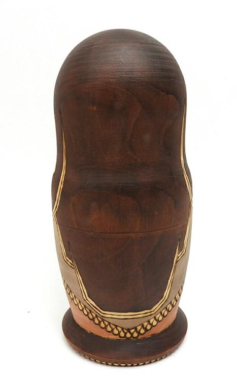 Golden Ring Artistic Matryoshka back of head doll