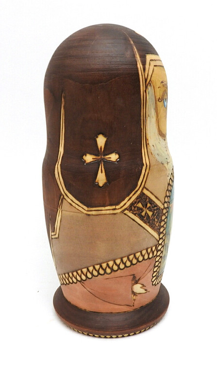 Golden Ring Artistic Matryoshka side view of head doll