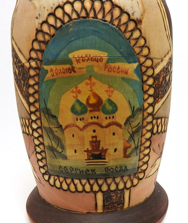 Golden Ring Artistic Matryoshka closeup of first doll