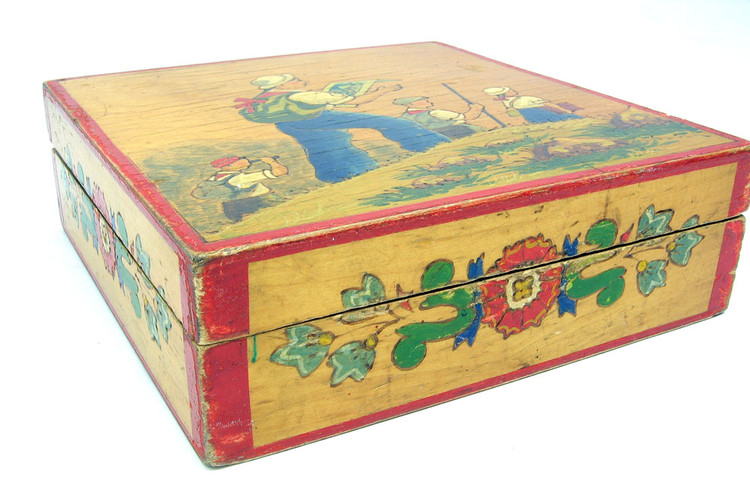 Young Pioneers on a Hike (Юные Пионеры в Поход) is a 1950s Socialist Themed Painted Box from Zagorsk