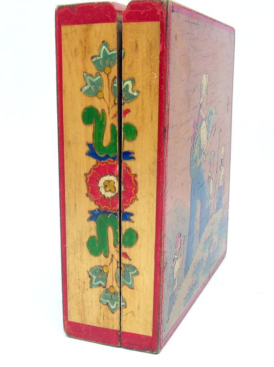 Mid 20th Century Painted Box  Pioneer Socialism