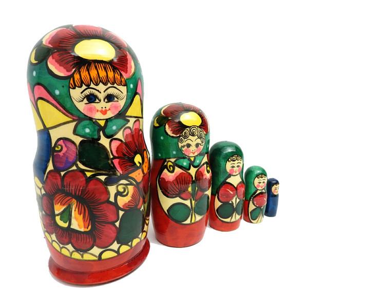 """Polkhovsky Maidan """"Rainbow"""" Matryoshka"""