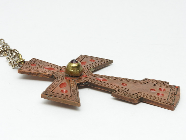 Primitive POW Camp Orthodox Priest's Cross
