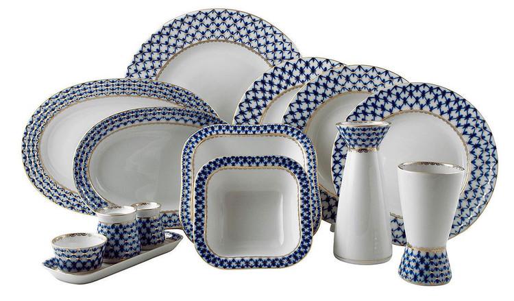 Cobalt Net Dinner Set (Deluxe 31 pieces)