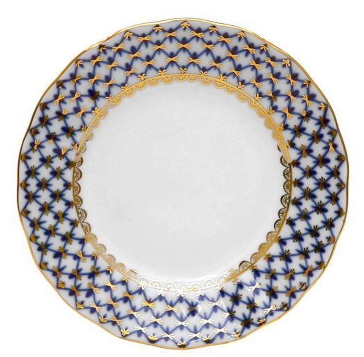 """Cobalt Net Flat Salad Plate [7""""]"""