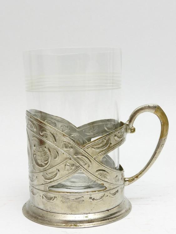 "Vintage Ukrainian City ""Zaporizhia"" Tea Glass Holder"