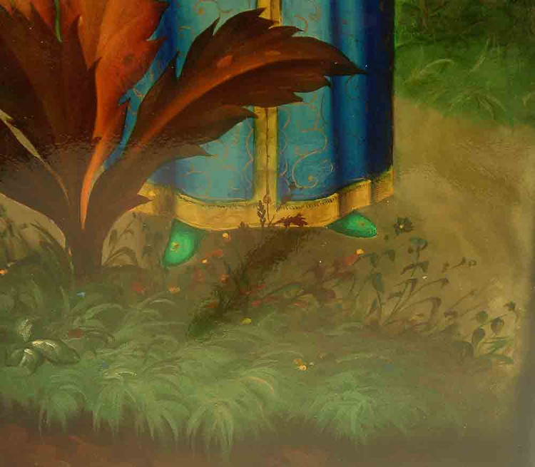 """Scarlet Flower"" Fedoskino Painting"