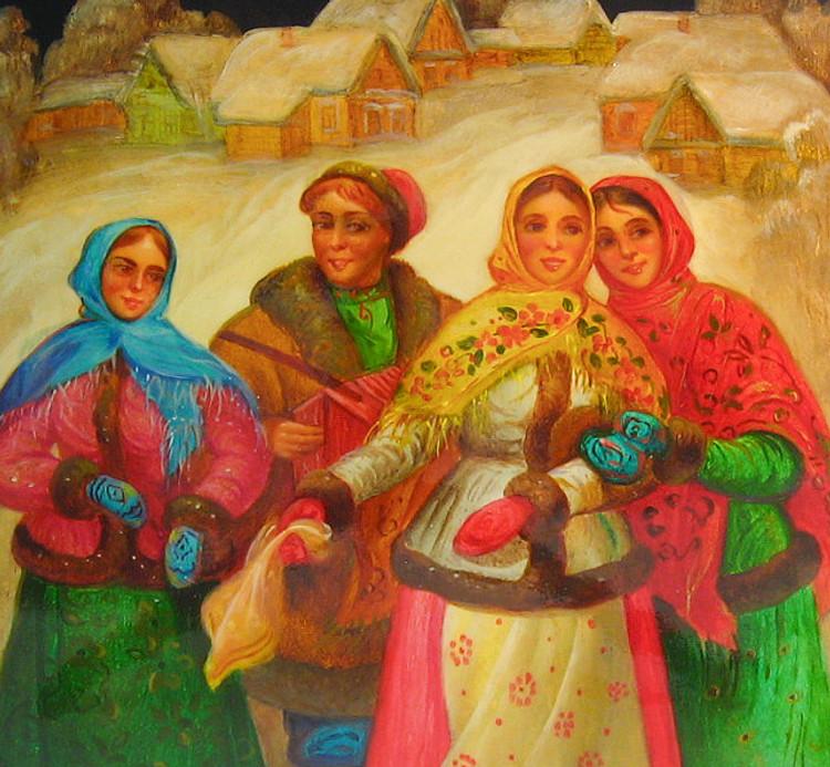 """""""The Village Courtship"""" (Ухаживание в Деревне) Detailed View"""
