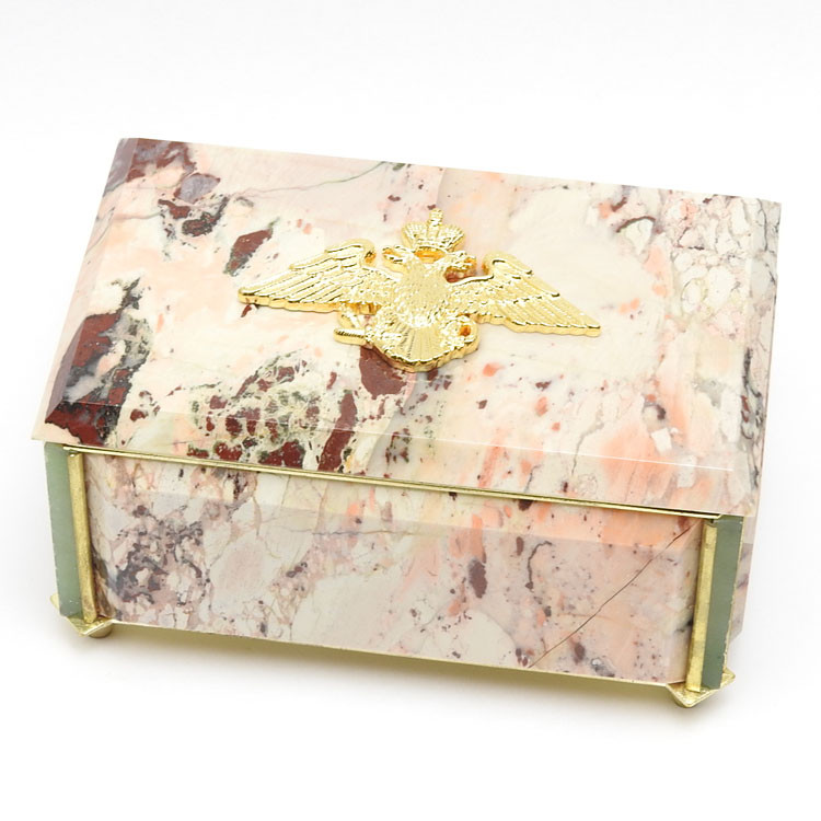 Russian Imperial Eagle Marble Box