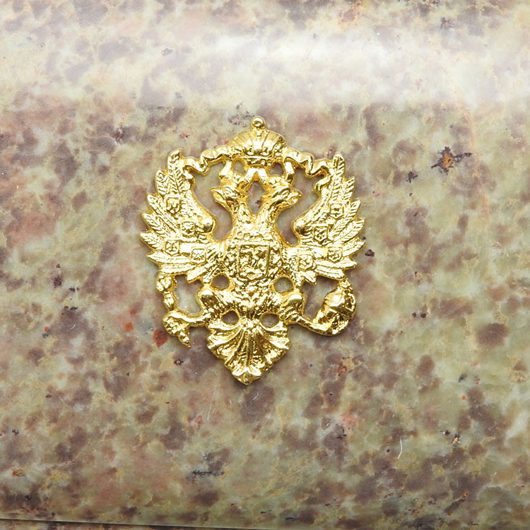 Russian Imperial Double Headed Eagle Large Keepsake Box