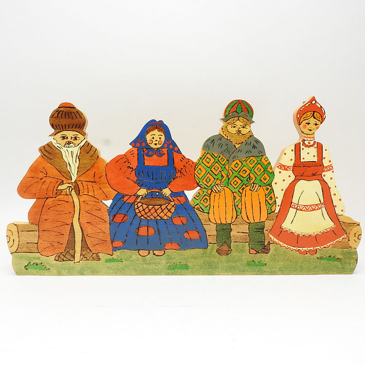 Friends and Family in Traditional Russian Costumes