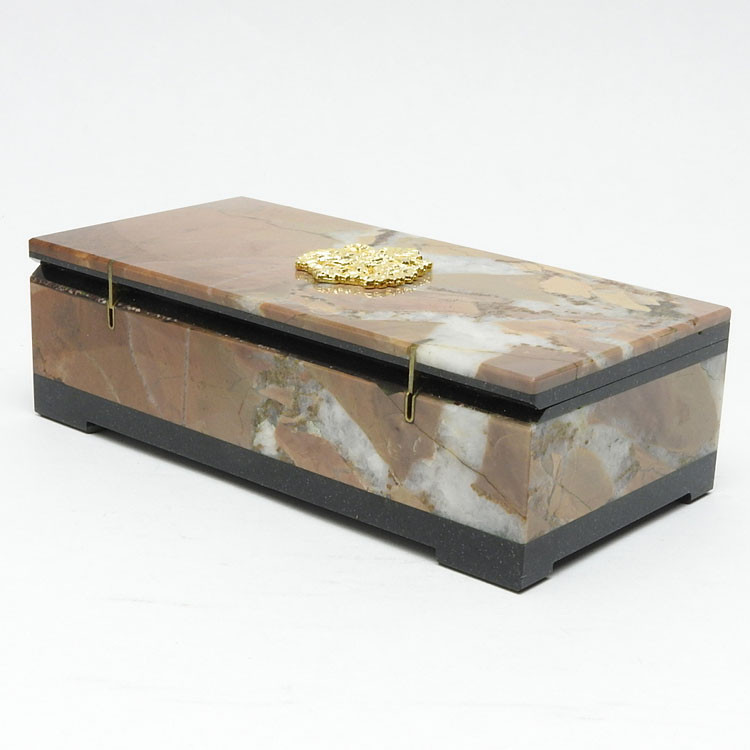 Faberge Style Russian Imperial Eagle  Keepsake Box