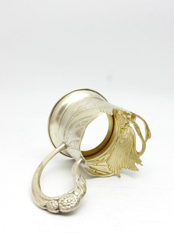 Swans Silver Tea Glass Holder