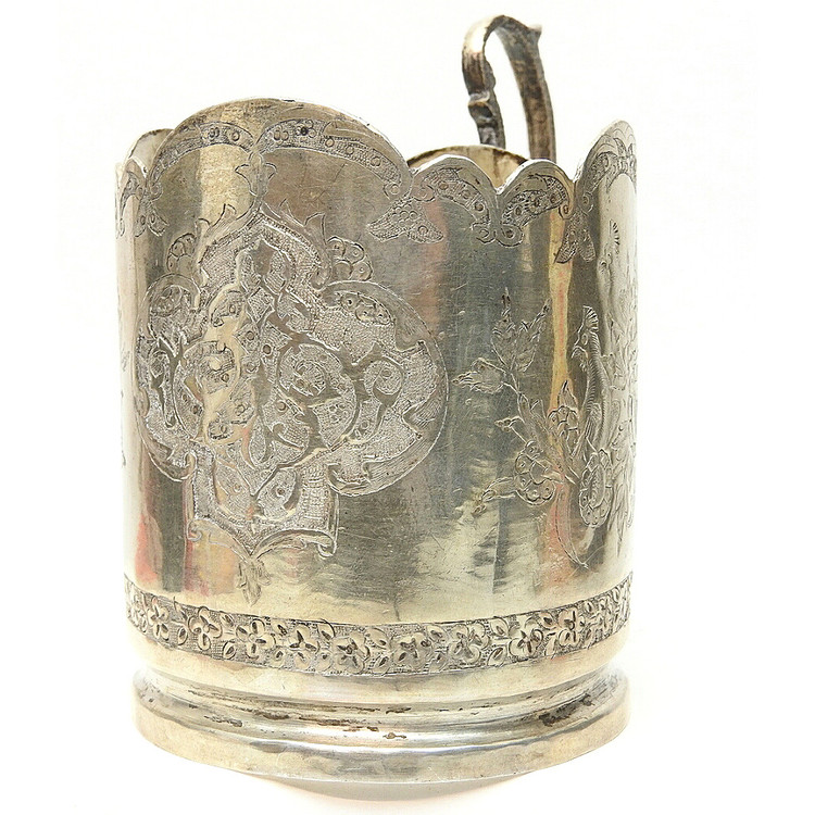 Vintage Love Birds Tea Glass Holder