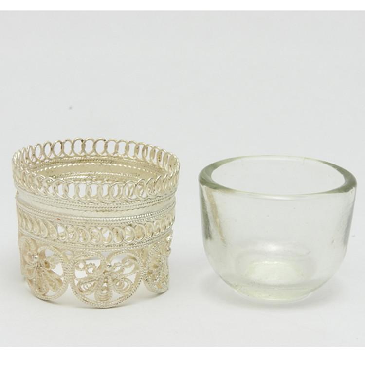Russian Filigree Salt Dish