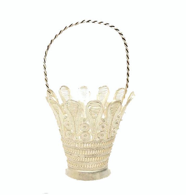 Miniature Filigree Basket Kazakovo