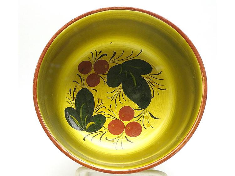 Vintage Khokhloma Deep Bowl