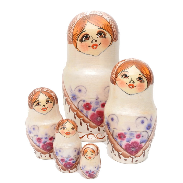 Shawl Maiden Matryoshka Doll