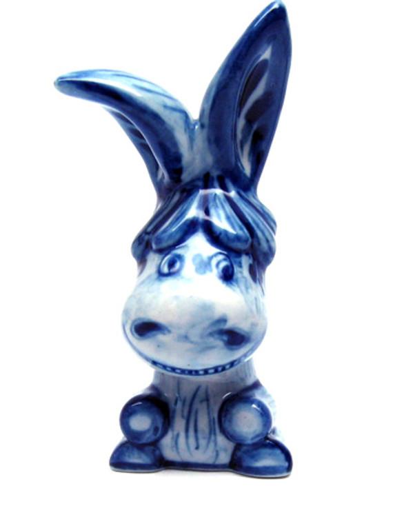 Eeyore the Donkey Gzhel Figure