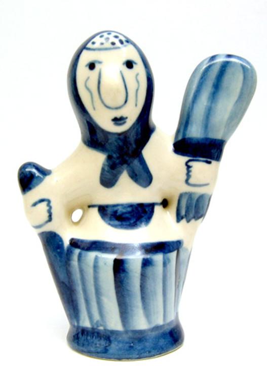 Baba Yaga Gzhel Figure